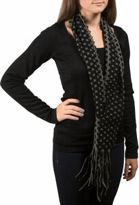 Noir by H2Z Scarves - Interlocking Scarf