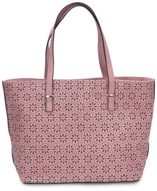 "Alex Tote in Orchid by H2Z Laser Cut Handbags - 11"" x 17"" x 6"" Laser Cut Purse/Handbag"