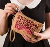 Laurel Marsala by H2Z Laser Cut Handbags - Model2