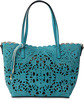 Alison Teal by H2Z Laser Cut Handbags -
