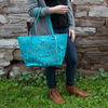 Alison Teal by H2Z Laser Cut Handbags - Model