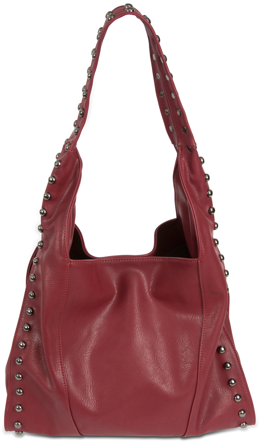 "Emma Bordeaux by H2Z Handbags - Emma Bordeaux - 12.5"" x 5"" x 14.5"" Handbag"
