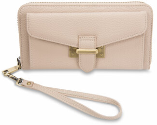 "Madison Taupe by H2Z Handbags - 7.5"" x 1.5"" x 4"" Wallet"