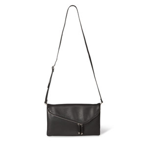 "Black by H2Z Handbags - 12.5"" x 1"" x8"" Fold Over Clutch"