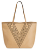 Jessica Hazelnut by H2Z Laser Cut Handbags -