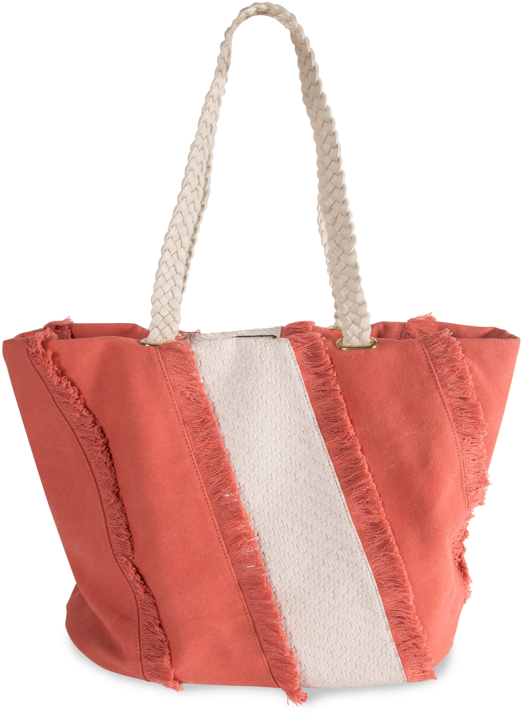 "Flush by H2Z Handbags - Flush - 19"" x 13"" Frayed Canvas Handbag"