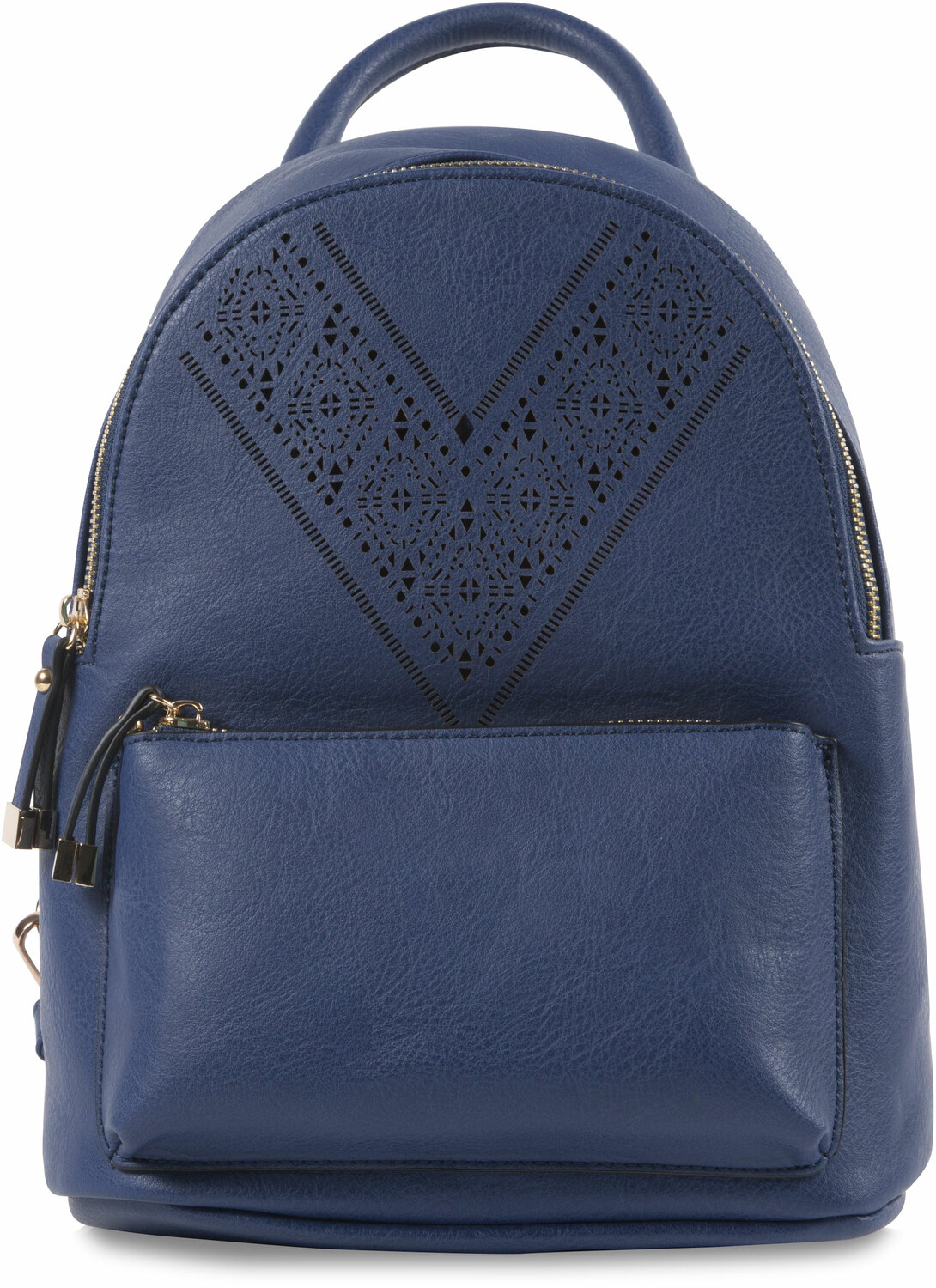 "Navy Ali by H2Z Laser Cut Handbags - Navy Ali - 9"" x 11.5"" Backpack Handbag"