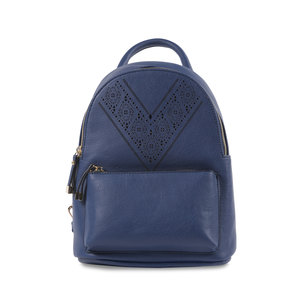 "Navy Ali by H2Z Laser Cut Handbags - 9"" x 11.5"" Backpack Handbag"
