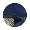 Navy Ali by H2Z Laser Cut Handbags - Pocket