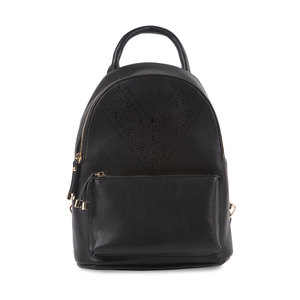 "Noir Ali by H2Z Laser Cut Handbags - 9"" x 11.5"" Backpack Handbag"
