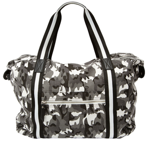 "Noir Woodland by H2Z Handbags - 23"" x 14"" Canvas Camo Tote"