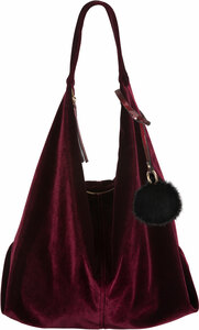 Wine by H2Z Velvet - Velvet Shoulder Bag