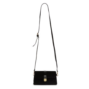 Black by H2Z Velvet - Velvet  Crossbody Bag