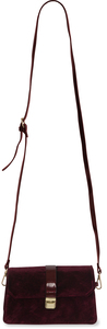 Wine by H2Z Velvet - Velvet  Crossbody Bag