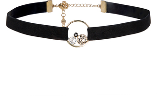Black by H2Z Velvet - Velvet Choker  with Swarovski Elements