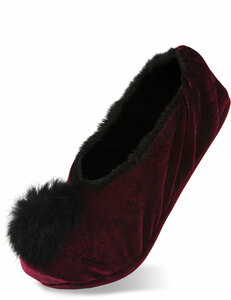 Wine by H2Z Velvet - S/M Velvet Slipper