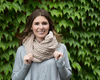 Soft Beige by H2Z Scarves - Model