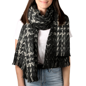 "Subtle Smoke by H2Z Scarves - 78"" x 26"" Woven Scarf"
