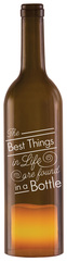 "The Best Things in Life by Wine All The Time - 12"" Wine Bottle LED Candle Holder"