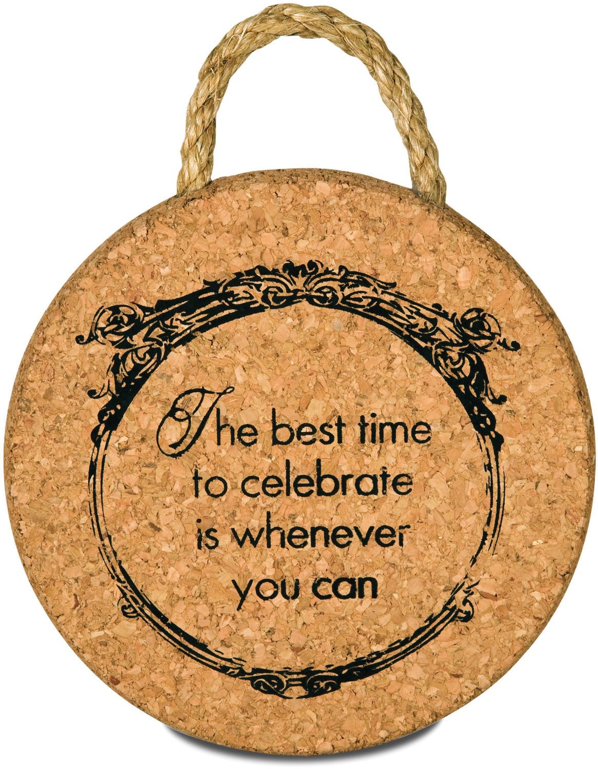 "Celebrate by Wine All The Time - Celebrate - 6"" Cork Trivet"