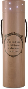 "Celebrate by Wine All The Time - 3.5""x14"" Blinking Wine Box"