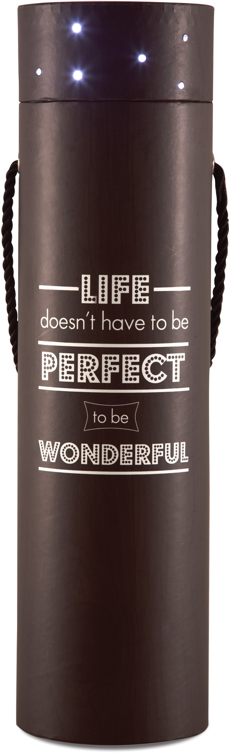"Life doesn't have to be Perfect by Wine All The Time - Life doesn't have to be Perfect - 3.5""x14"" Blinking Wine Box"
