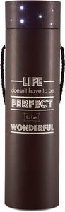 "Life doesn't have to be Perfect by Wine All The Time - 3.5""x14"" Blinking Wine Box"