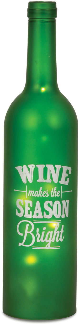 "Season Bright by Wine All The Time - Season Bright - 12"" LED Lit Wine Bottles"