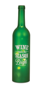 "Season Bright by Wine All The Time - 12"" LED Lit Wine Bottles"
