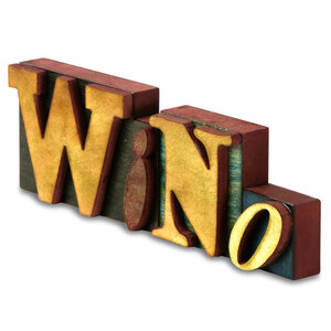 "Wino MDF Block Letters by Wine All The Time - 11.5"" x 3.75"" Wood Block Letters"