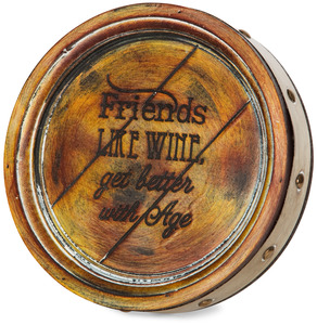 "Friends by Wine All The Time - 8"" Plaque"