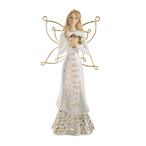 "Not Forgotten by Butterfly Whispers - 9"" Angel Holding a Heart"