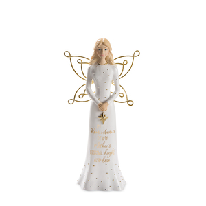"Mother by Butterfly Whispers - 7.5"" Angel Holding a Star"