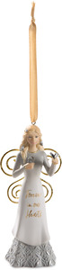 "Forever by Butterfly Whispers - 4.5"" Angel Ornament Holding Butterflies"