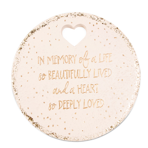 "In Memory by Butterfly Whispers - 10"" Garden Stone"