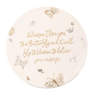 "Butterfly Whispers by Butterfly Whispers - 10"" Garden Stone"