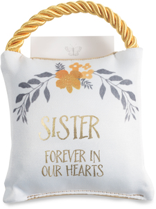 "Sister by Butterfly Whispers - 4.5"" Memorial Pocket Pillow"