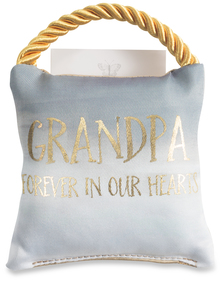 "Grandpa by Butterfly Whispers - 4.5"" Memorial Pocket Pillow"