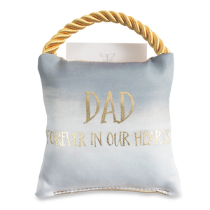 "Dad by Butterfly Whispers - 4.5"" Memorial Pocket Pillow"