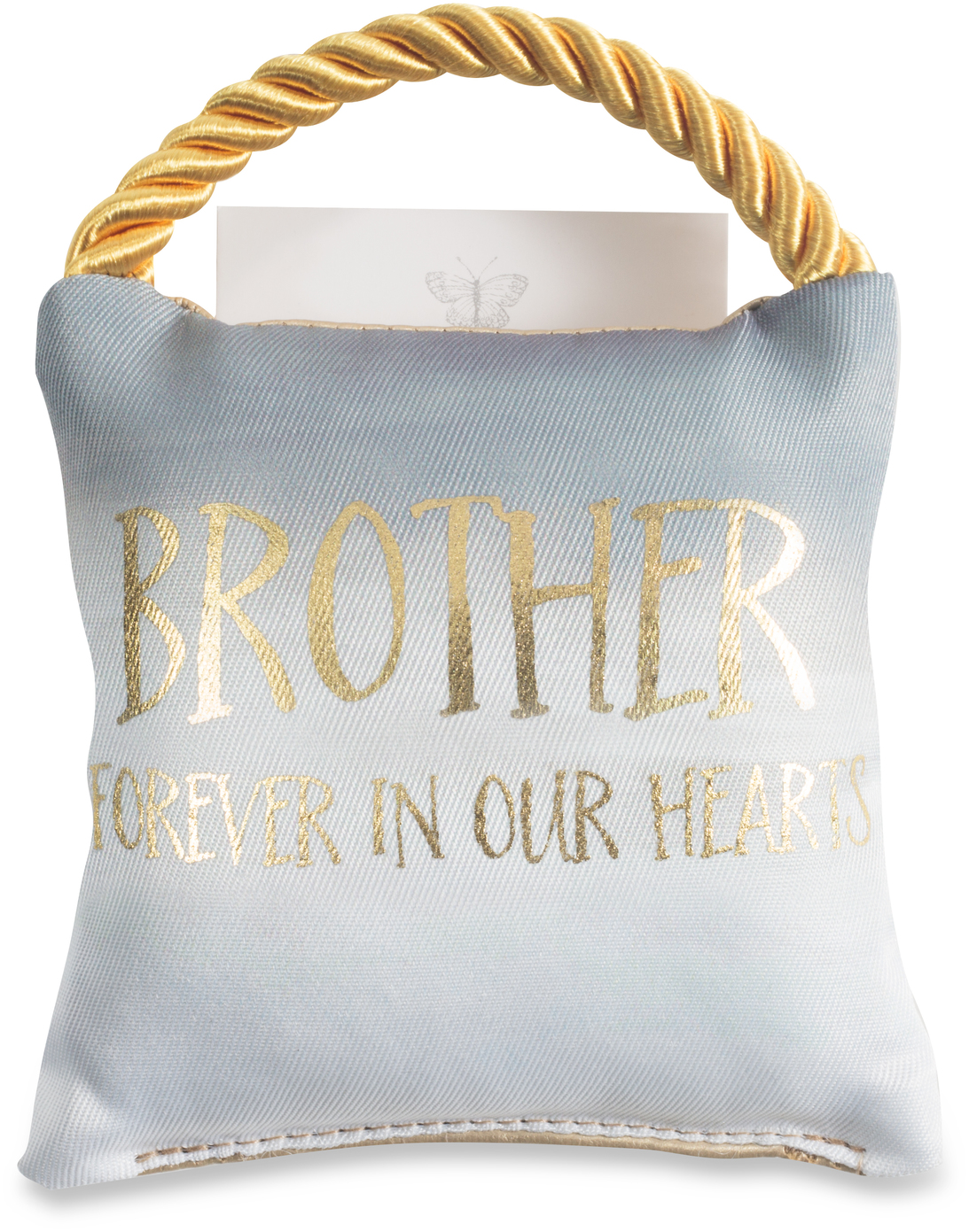 "Brother by Butterfly Whispers - Brother - 4.5"" Memorial Pocket Pillow"