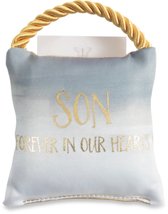 "Son by Butterfly Whispers - 4.5"" Memorial Pocket Pillow"