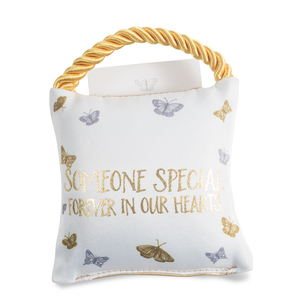 "Someone Special by Butterfly Whispers - 4.5"" Memorial Pocket Pillow"