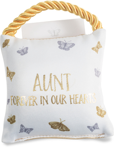 "Aunt by Butterfly Whispers - 4.5"" Memorial Pocket Pillow"