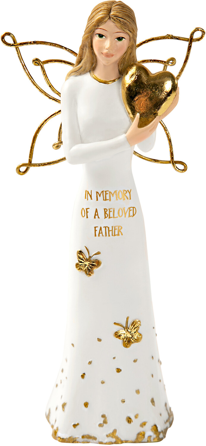 "Beloved Father by Butterfly Whispers - Beloved Father - 5.5"" Angel Holding a Heart"
