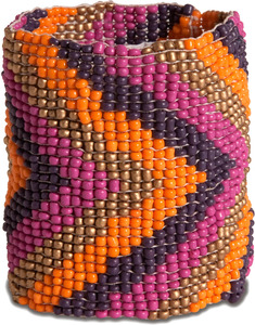 "Horizon by Tribal Chic Collection - 2"" Beaded Stretch Bracelet"