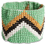 "Minted by Tribal Chic Collection - 1.5"" Beaded Stretch Bracelet"
