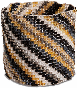 "Subtle Stripes by Tribal Chic Collection - 2"" Beaded Stretch Bracelet"