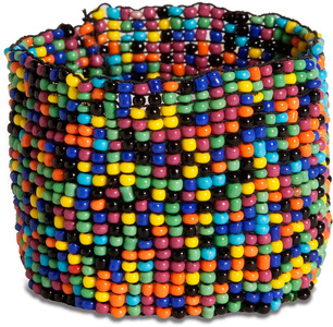 "Confetti by Tribal Chic Collection - 1.5"" Beaded Stretch Bracelet"