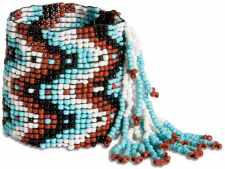 "Free Spirit by Tribal Chic Collection - 2"" Beaded Stretch Bracelet with Fringe"