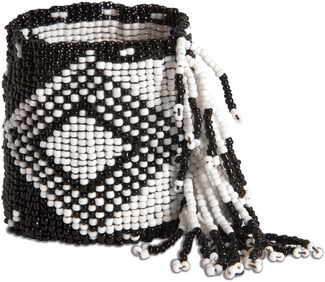 "Storm by Tribal Chic Collection - 2.25"" Beaded Stretch Bracelet with Fringe"